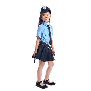 Image 3 - Bonito meninas minúsculo policial policial polícia playtime cosplay uniforme crianças mais legal traje de halloween