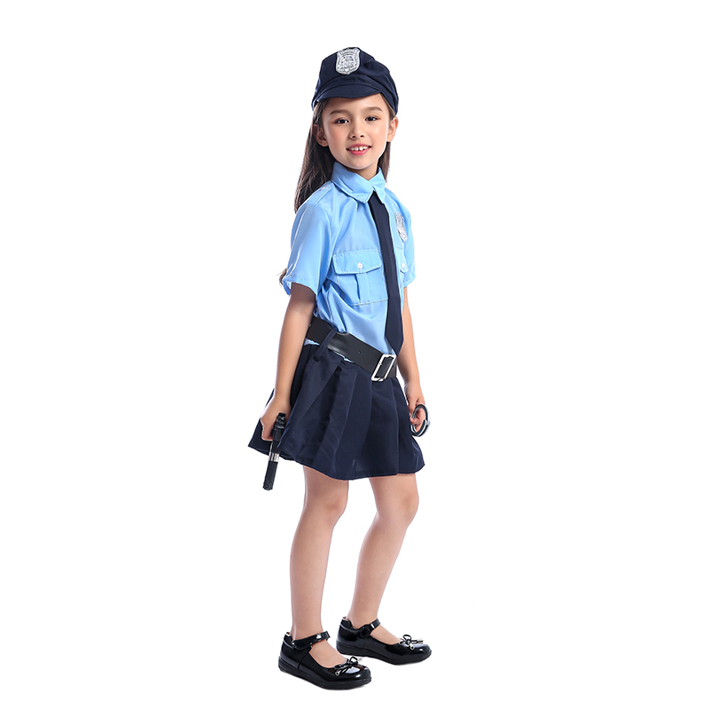 Image 3 - Cute Girls Tiny Cop Police Officer Playtime Cosplay Uniform Kids Coolest Halloween Costume-in Girls Costumes from Novelty & Special Use
