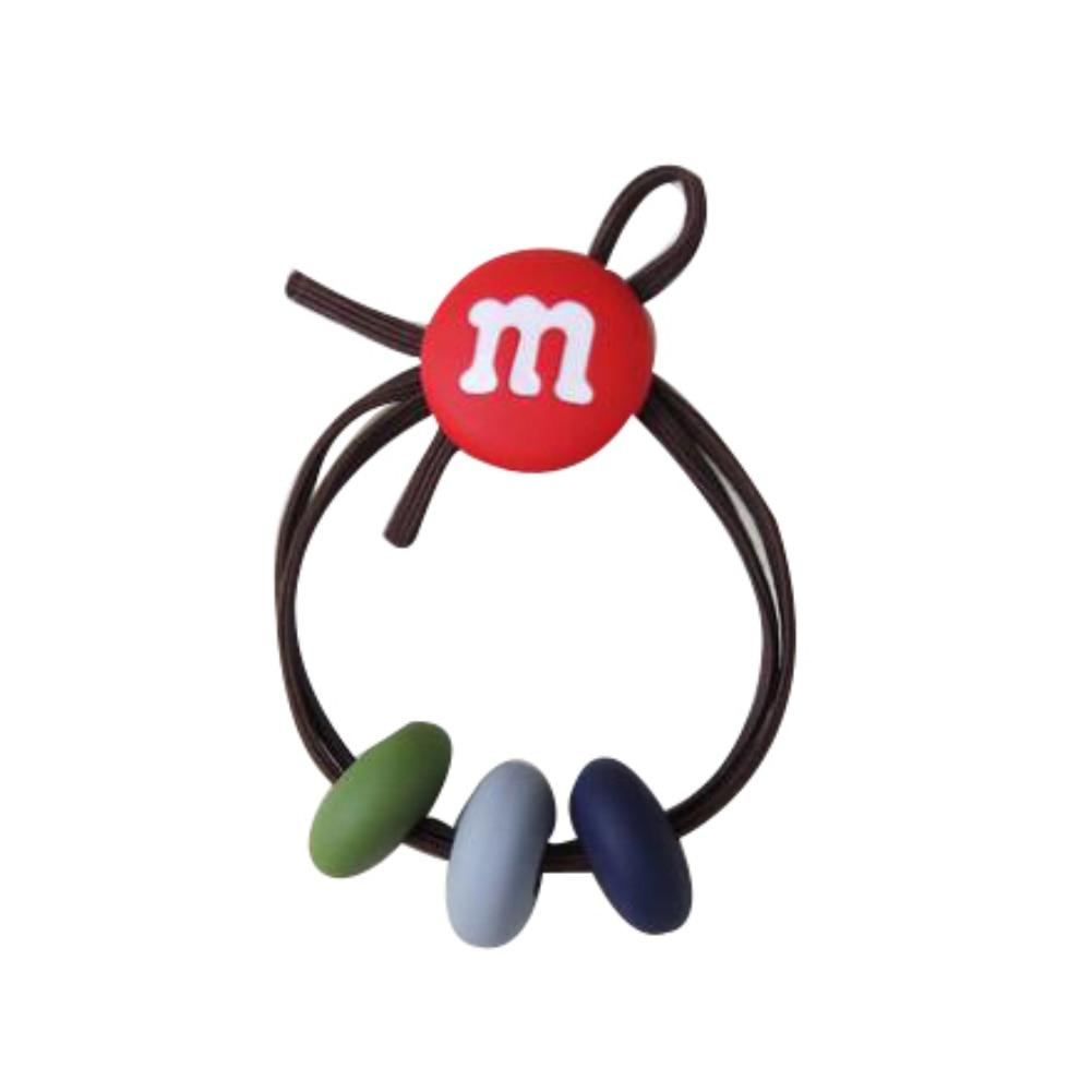 Lovely Dual Band M Beads Ponytail Ties Hairband Rope Hair Decor Accessory Gift hair elasti