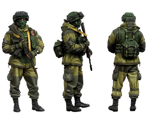 1/35 Resin Figure Modern Russian Soldier 1pc Model Kits