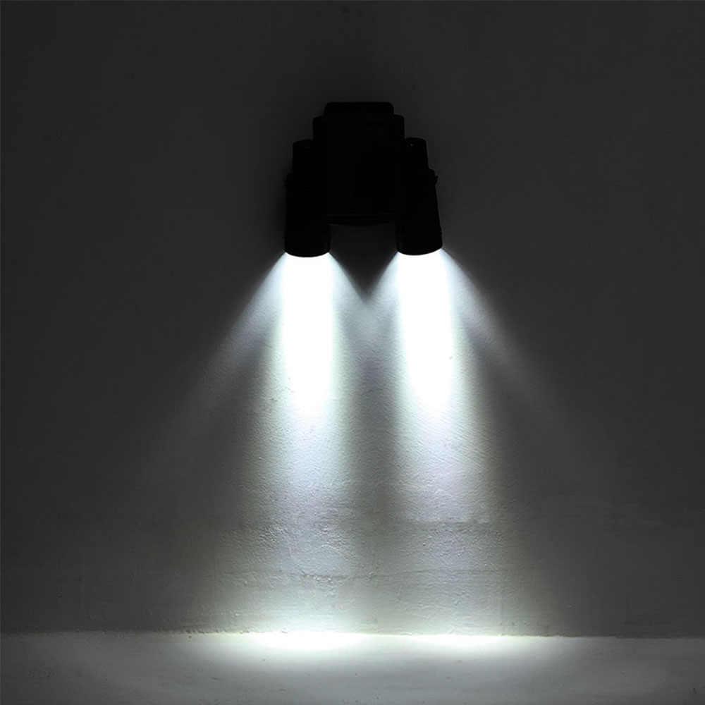 Новый датчик света Светодиод движения PIR на солнечных батареях лампа вращающаяся двойная дуральная головка охранная настенная лампа для наружного сада