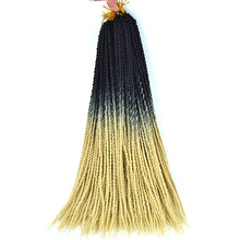 Лучший!  Ombre Сенегальский Твист Косы Волос Вязание Крючком Косы 24 дюймов Синтетическое Наращивание Волос  Луч