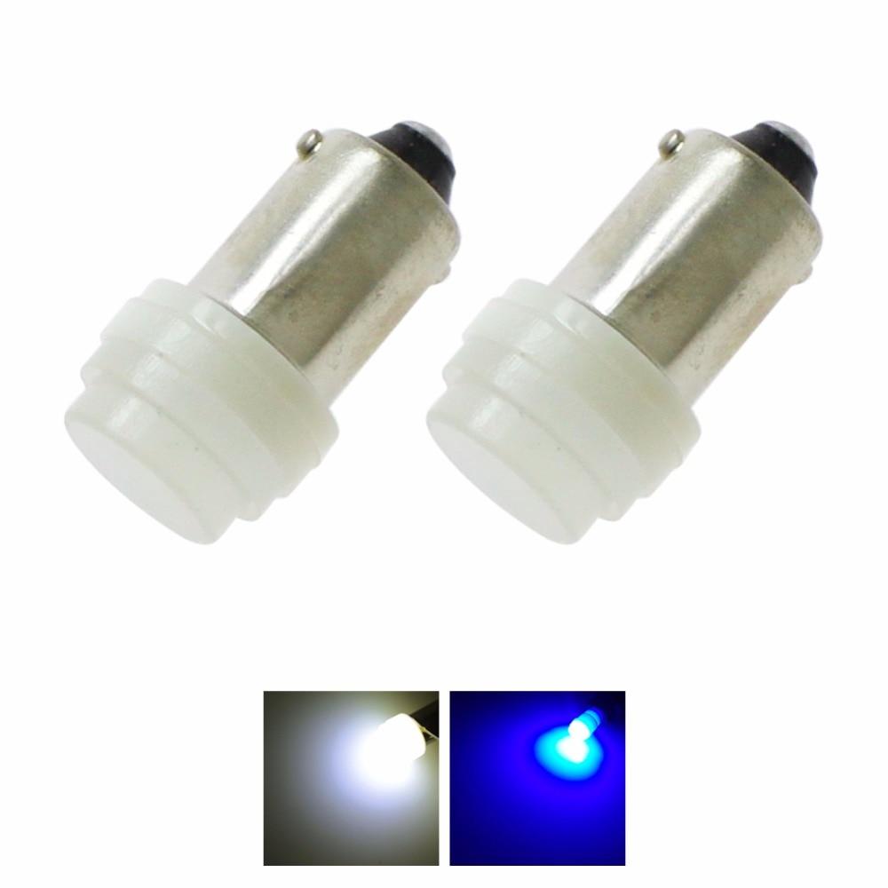 2pcs 12V Auto Car Interior LED BA9S COB T4W White Blue Ceramic High Power Bulb Reading Light Lamp Bulb T4w Styling Lamp Signal