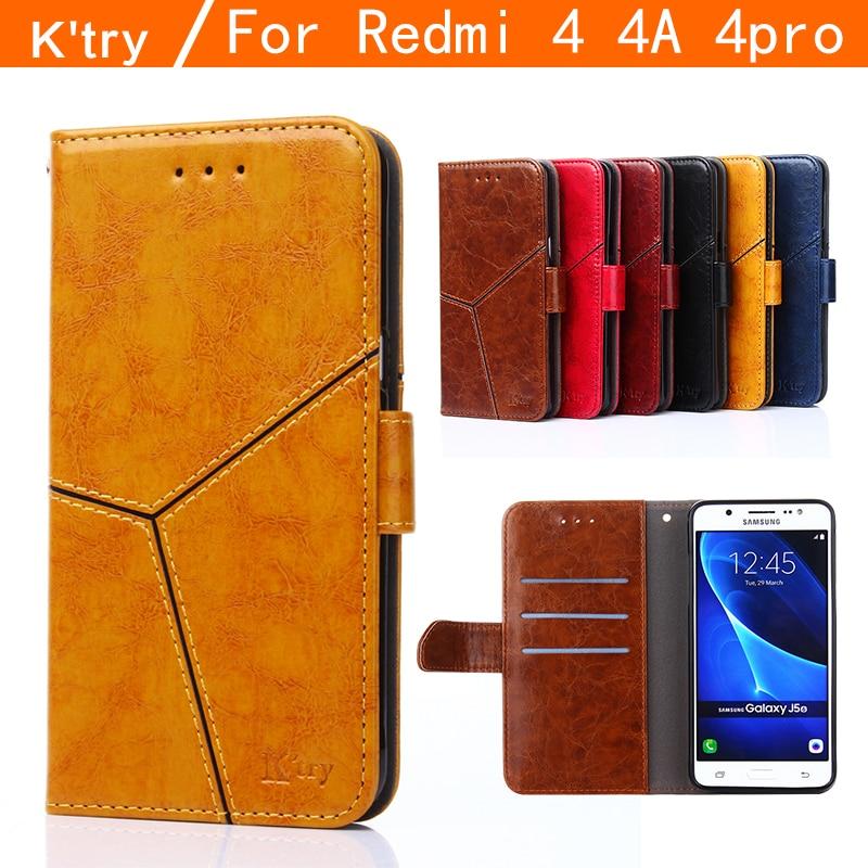 Redmi 4a cas xiaomi redmi 4 pro cas couverture redmi 4 cas flip cas K'try d'origine Xiaomi Mi Redmi 4 en cuir funda capa coque 5