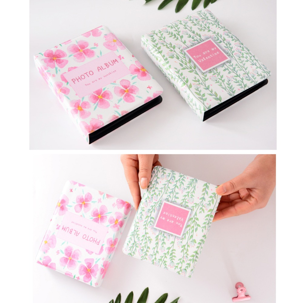 3 inch 64 Photo Storage Pockets Colorful Flower Green leaf Photo Album Book Picture Case Storage For Instax Mini 8 9 70 90 Film