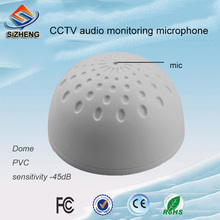 SIZHENG SIZ-145 Dome mini PVC security audio microphone sensitivity -45dB cctv camera system