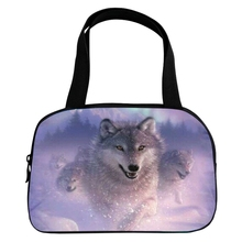 Hot Sale Oxford Printing 3D Animal Ladies Casual Bag Star Wolf Teenagers Boys Handle Bag for Women Handbag for Kids Baby Bags