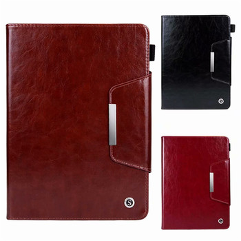 Genuine Leather Case for iPad Mini 5 Business Flip Smart Cover Mini 4 Stand Case for iPad Mini 1 2 3 Ultra Thin Tablet Cover new three folding tablet case for ipad mini 1 mini 2 ultra thin dormancy tablet holster pu leather cover for apple ipad mini 3