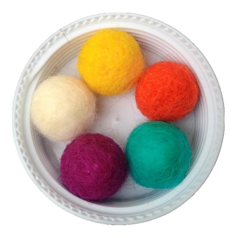 Army Green Zasy 20mm Foam Filled Needle Wool Felt Balls DIY Garland Home Decor Fashion Jewelry Beads