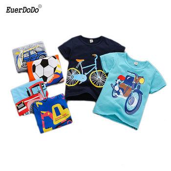 Letnie chłopięce koszulki bawełniane koszule dla dziewczynek koszulki z krótkim rękawem dla dzieci topy kreskówki dla dzieci T Shirt dla dzieci koszulki odzież tanie i dobre opinie EuerDoDo COTTON Moda Cartoon REGULAR O-neck Tees Pasuje prawda na wymiar weź swój normalny rozmiar Unisex 2-8T