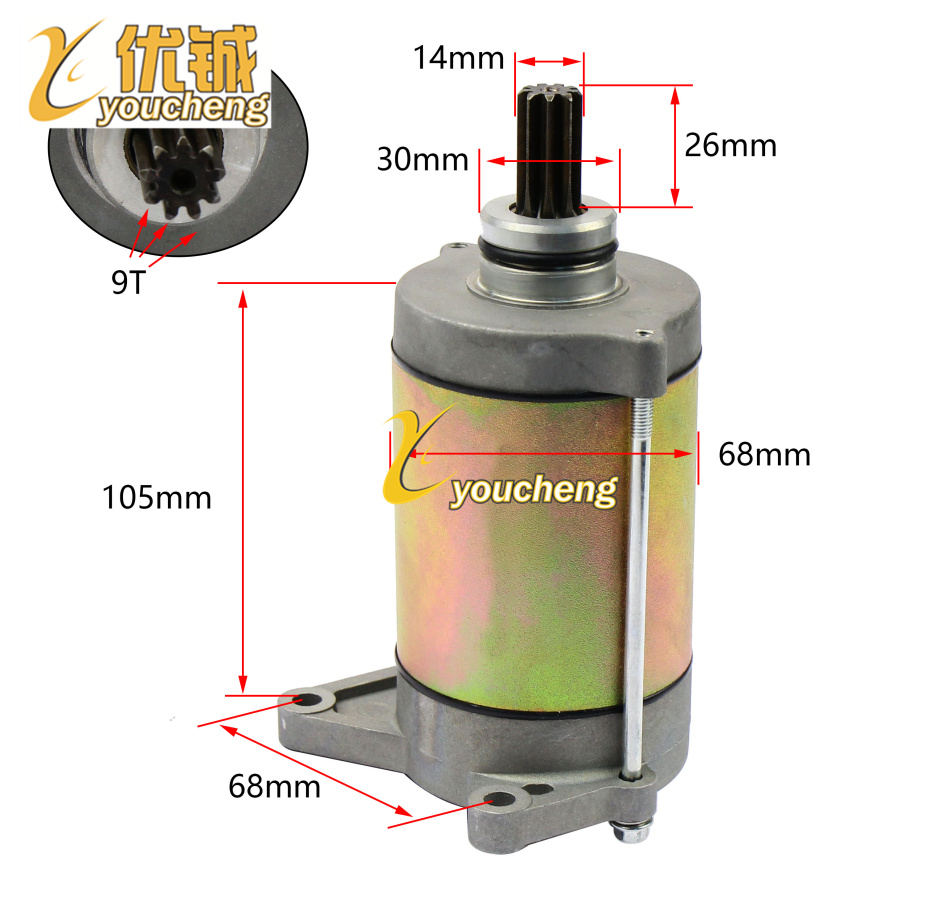 CF500cc CF188 Engine Starter Motor ATV UTV GO KART Repair Parts X5 Replacement 0180-091100-0010 MD-CF500 Drop Shipping jiangdong engine parts for tractor the set of fuel pump repair kit for engine jd495