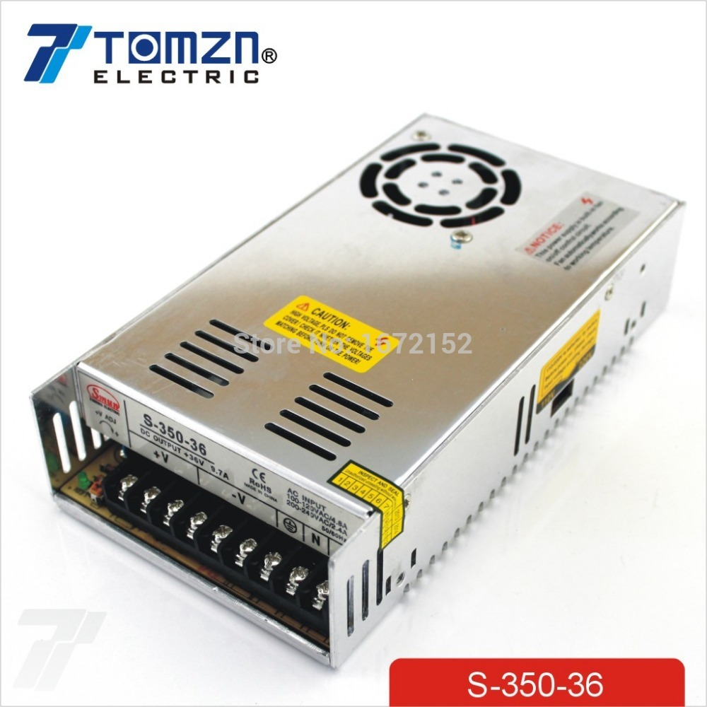 350W 36V 9.7A Single Output Switching power supply for LED Strip light AC to DC dc power supply 36v 9 7a 350w led driver transformer 110v 240v ac to dc36v power adapter for strip lamp cnc cctv