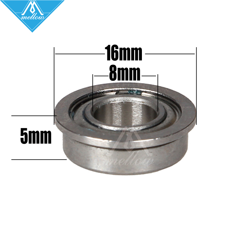 Free shipping 10pcs/lot F688-2Z F688ZZ F688 zz F628/8ZZ Flanged Flange Deep Groove Ball Bearings 8 x 16 x 5mm for 3D printer
