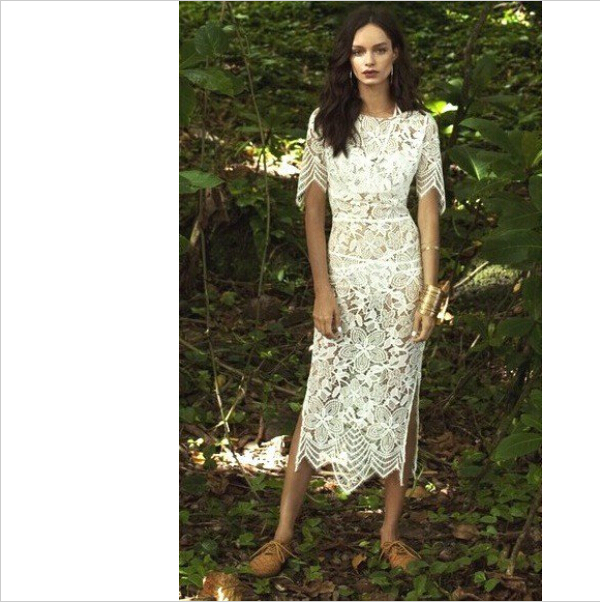 778864e4f5 Hawaiian Crochet Dress Beach Cover Up Sexy Club Bodycon Lace Hollow Out  White Dresses Summer Maxi Dress,Vestidos Midi Long Dress-in Dresses from  Women's ...