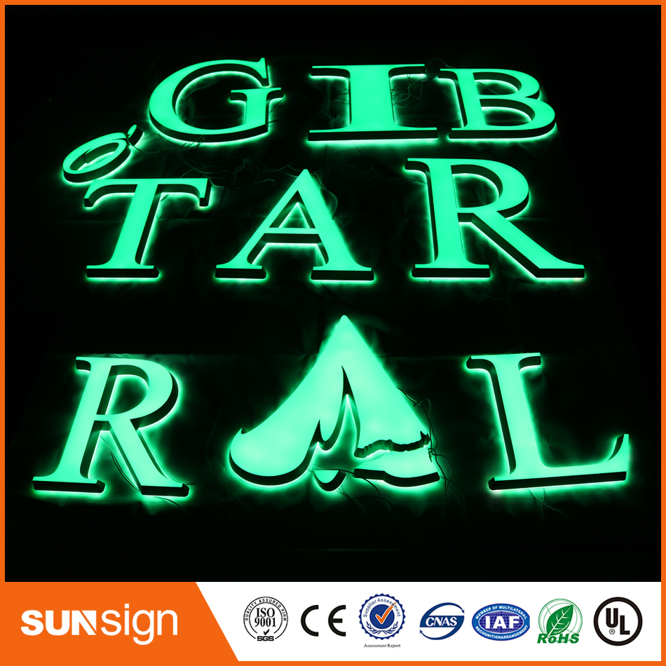 Alibaba-express Led Letters Decorations Custom Illuminated Letters Font