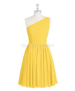 ANTI Yellow Bridesmaid Dresses 2019 Vestido De Festa De Casamento Party Short Formal Gowns For Wedding HQY905