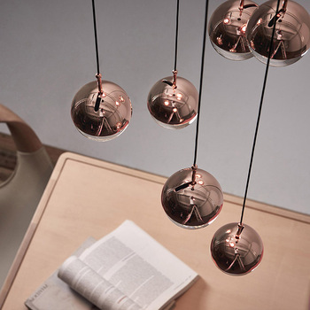 Modern LED Living Room Pendant Lights Stairs Hanging Lighting Nordic Glass Ball Fixtures Dining Room Suspended Lamps