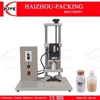 HZPK Semi automatic Desktop Electric Capping Machine Double Motor Work Aluminum Head Screw Capping For Plastic/Glass Bottle