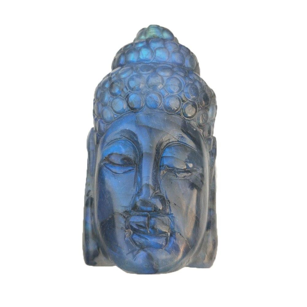Labradorite naturelle de bouddha cristal crâne sculpté à la main Reiki guérison Quartz minéral cristal pierre