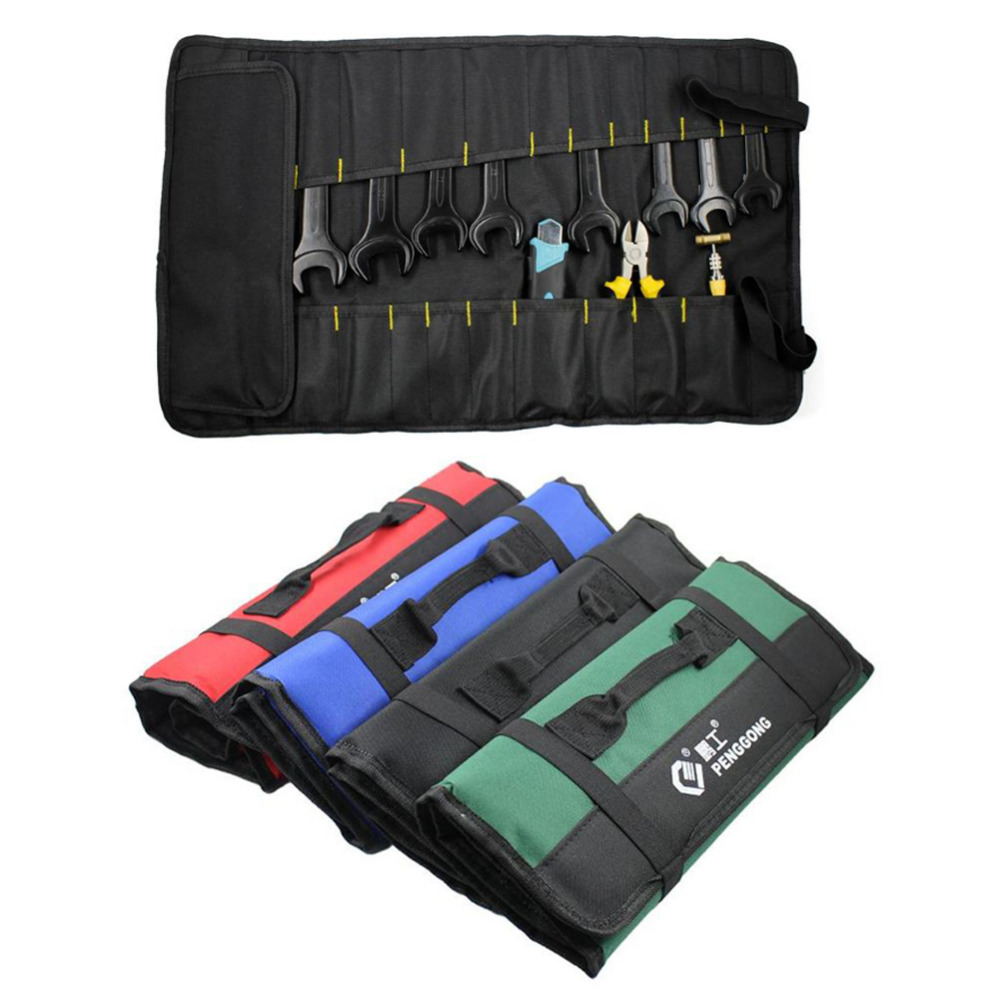 Multi-function Tool Bag Waterproof Oxford Carrying Handles Folding Roll Bags Portable Toolkit Storage Organizer Pouch Bag Case