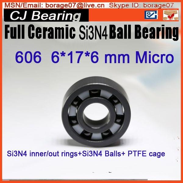 SI3N4 Full ceramic silicon nitride Si3N4 ball bearing 606