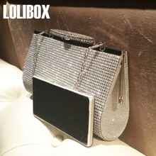 Women Gold Clutch Bags Set Auger Diamond Women Evening Bag W