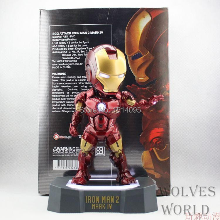 8 20CM Marvel Egg Attack Iron Man 2 Mark 4 Action Figure Collection Model Toy  IR007 free shipping marvel egg attack iron man 2 mark 4 action figure collection model toy 8 20cm im018