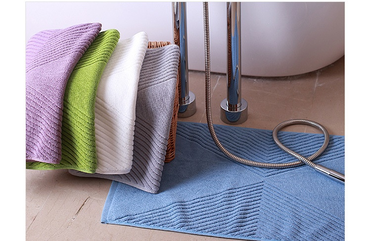 Cobblestone Footprints Cotton Hotel Home Bathroom Bath Mats Absorbent Floor Towels Doormat Non-slip Hotel Entrance Rugs Carpet floor