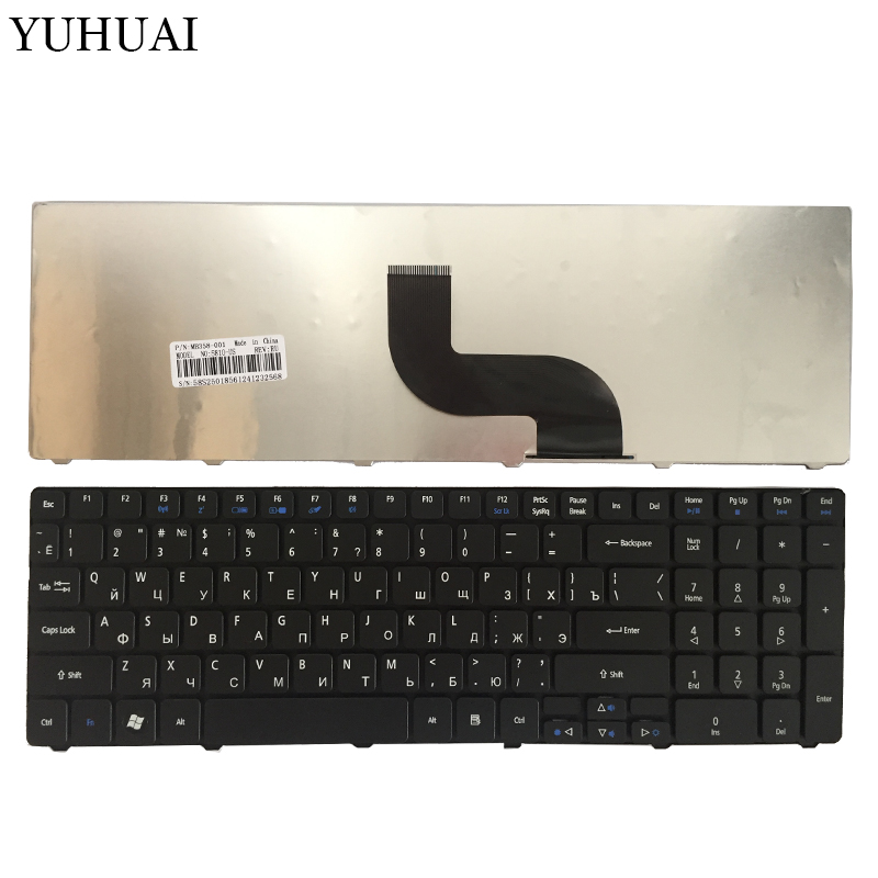 Russian for Acer Aspire 5810T 5536G 5738Z 5810 5739 5338 5410t 5538 5542 5538G 5542G 7560 7560G 7739 5625G RU laptop keyboard fr french laptop replacement keyboard for acer as5810t 5410t 5536 5536g 5738 black