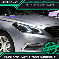 Free Shipping Car Styling LED HID Rio LED Headlights Head Lamp Case For Hyundai Sonata 2015