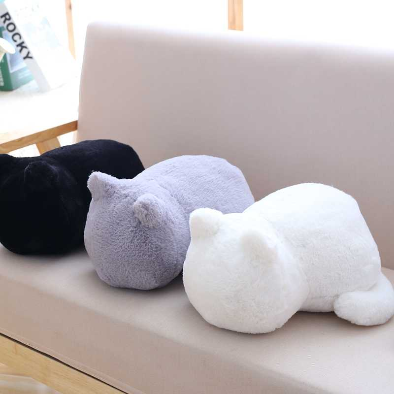 Hot Kawaii ตุ๊กตาของเล่นแมวตุ๊กตาน่ารัก Shadow ตุ๊กตาเด็กน่ารักสัตว์หน้าแรกตกแต่งหมอนนุ่มวันเกิดคริสต์มาสของขวัญ