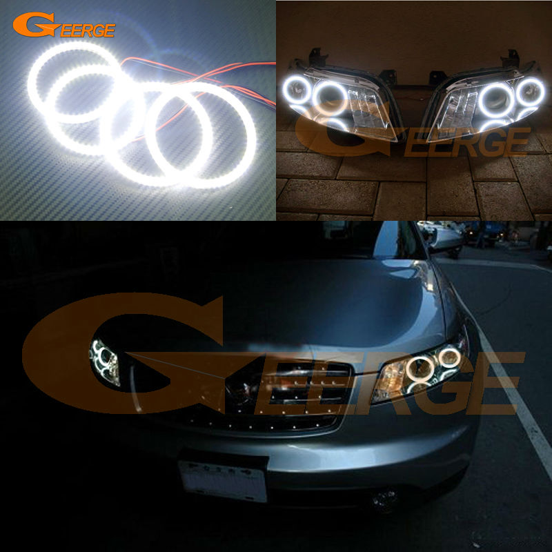 For INFINITI FX35 FX45 2003 2004 2005 2006 2007 2008 Excellent led angel eyes Ultra bright illumination smd led Angel Eyes kit cawanerl car 5630 smd led bulb interior led kit package white for chevrolet trailblazer 2002 2003 2004 2005 2007 2008 2009