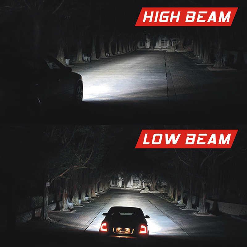 2pc C6 9006 LED Headlight Conversion Kit 80W 8000LM High/Low Beam Bulbs 6500K