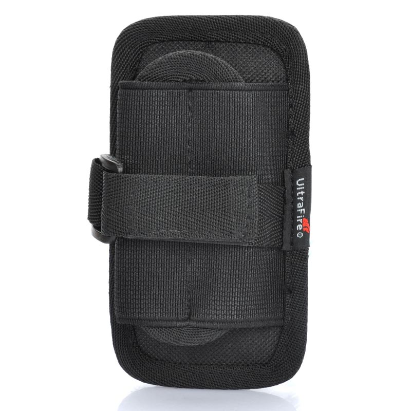 UltraFire Nylon Flashlight Holster with Belt Clip Flashlight Carrying Bag Protective Case for Torch - Black