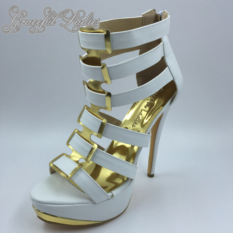 White Soft Leather High Heel Sandals Open Toe Platform Cheap China Shoes Ladies Plus Size Prom Heels Summer Style Sandal ladies consultation coat white size 14 1 each model 88018qhw14