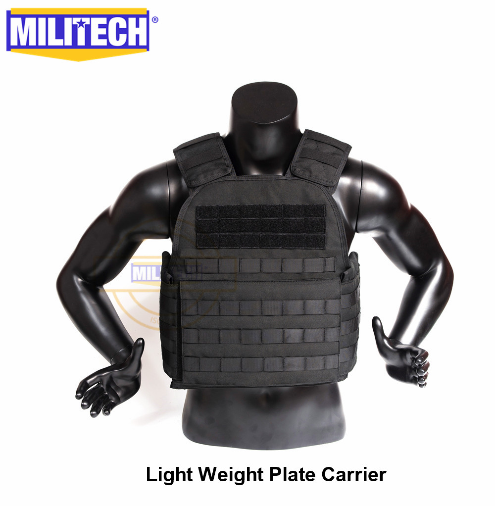 MILITECH Light Weight Plate Carrier Black BK Military Combat Assault Tactical Vest Police Overt Wear Body