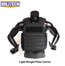 MILITECH אור משקל צלחת Carrier צבאי התקיפה Combat טקטי אפוד משטרת גלויה ללבוש שריון גוף Carrier
