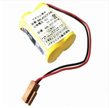 For 20 PCS 100% baterias Originais BR-AGCF2W Lithium 6 V PLC bateria com plug preto Para Fanuc A98L-0031-0011 # L