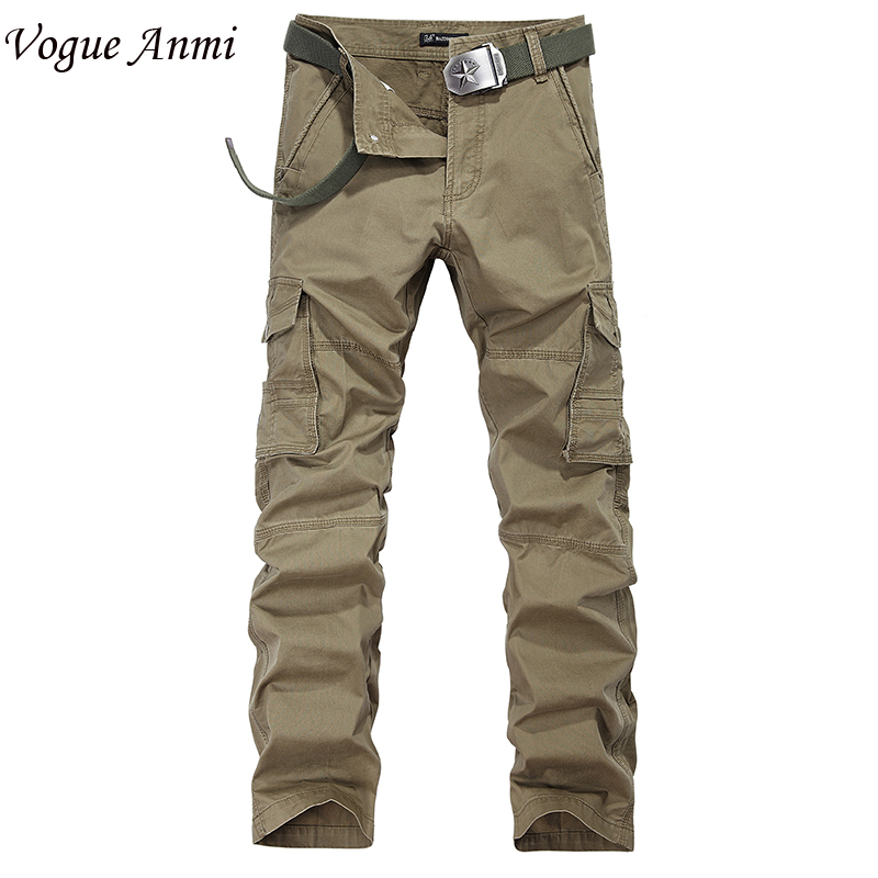 Vogue Anmi. Autumn Winter Size 29-40 Large Stock Mens Cargo Pants,Casual Pants,Multi Pocket Pants Men,Army Men - Anmi Garments' Store store