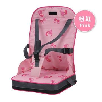 Портативное сиденье-бустер, обеденный коврик, детское кресло, сиденье для младенцев, безопасный дорожный стульчик для кормления, для малышей, для покупок, сиденье, помощник, 3 цвета - Цвет: pink