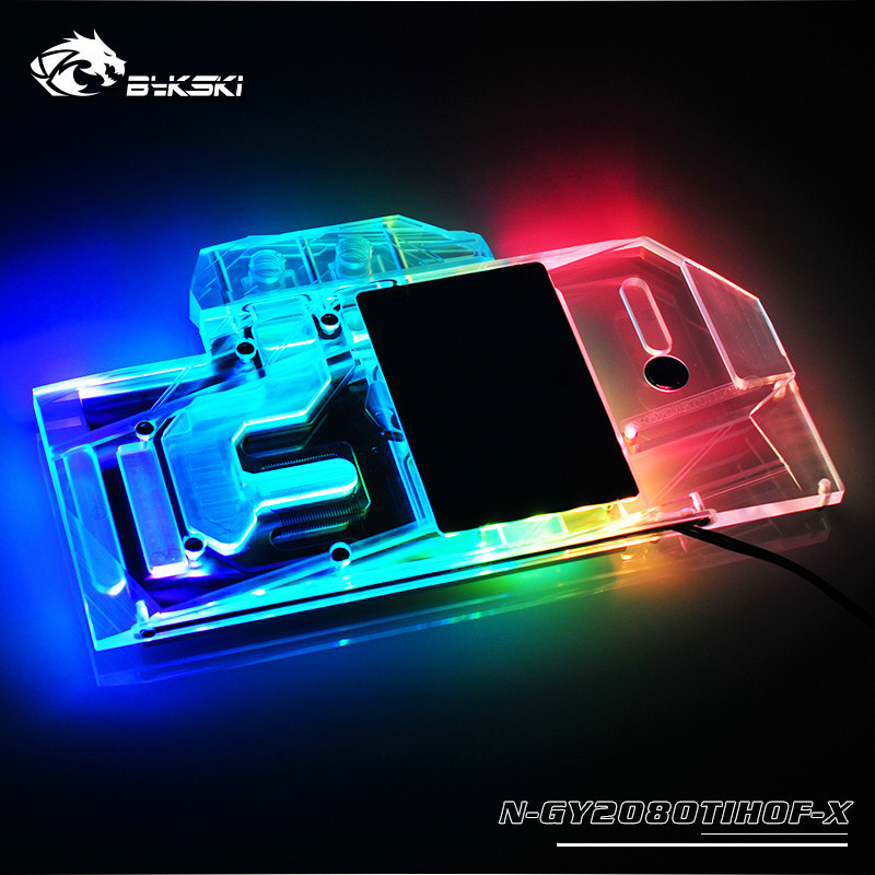 Bykski Full Coverage GPU Water Block For VGA Galax RTX GeForce 2080TI HOF OC lab Graphics