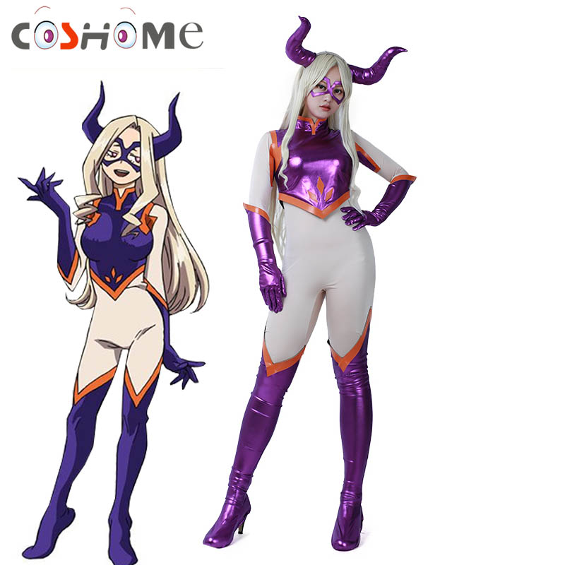 Coshome Boku no My Hero Academia Mt Lady Cosplay Costumes Women Jumpsuit for Halloween Party