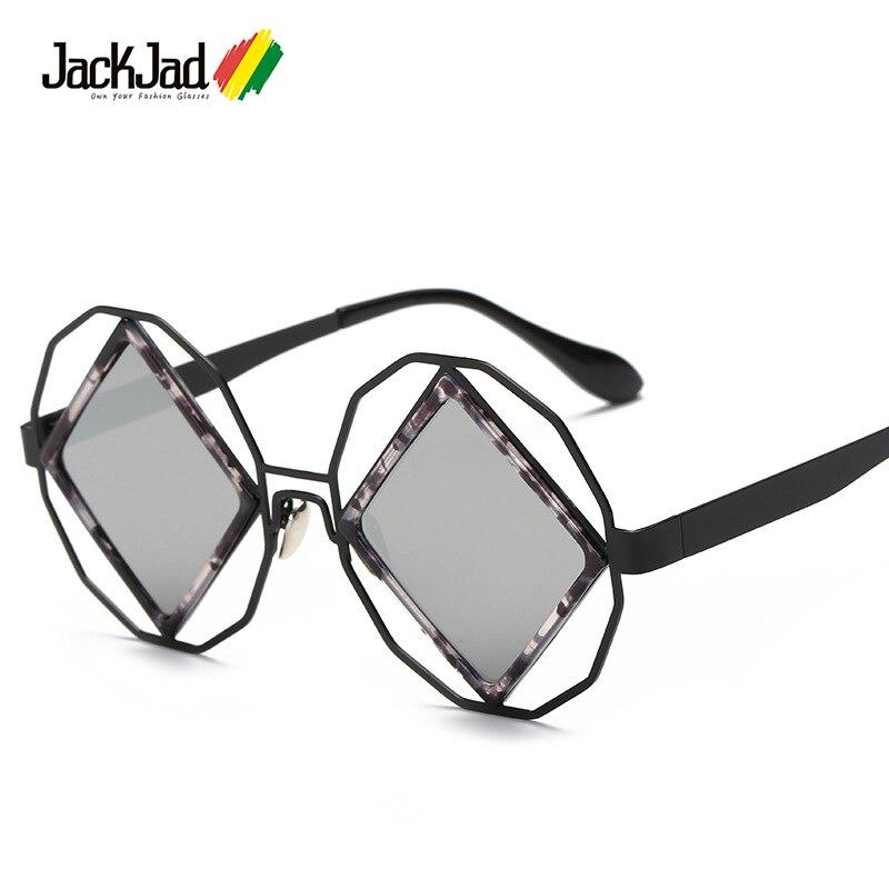 JackJad 2017 moda Rock SteamPunk estilo Metal cuadrado Funky gafas De Sol Unisex forma fresca Marca Diseño gafas De Sol