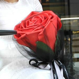 Image 4 - Grandes Roses en mousse avec tiges, tête de fleur géante, pour un cadeau danniversaire, la saint valentin, pour un décor de mariage, pour un décor de soirée
