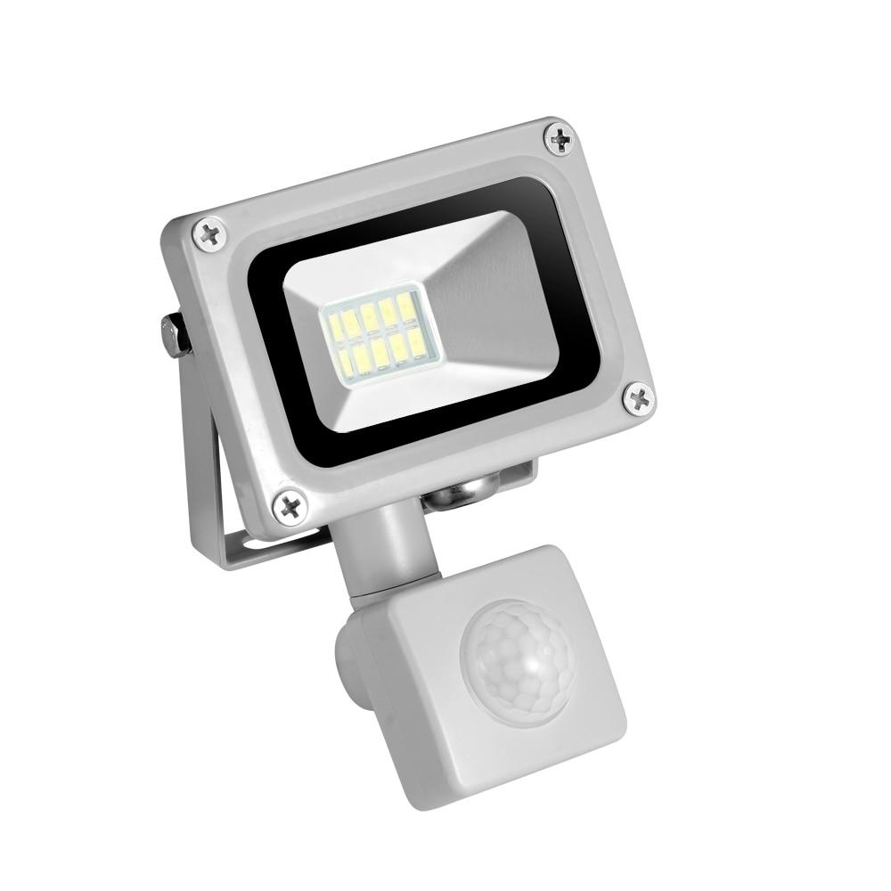 Us 9 92 25 Off 10w 20w Refletor Led Flood Light Searchlight With Pir Motion Sensor 220v Floodlight Waterproof Outdoor Lighting Factory Price In