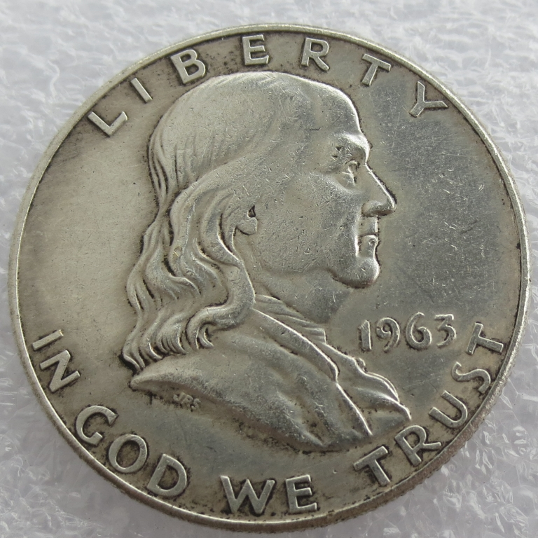 1963 P D Franklin Silver Half Dollar 90% silver or silver plated copy coins High Quality