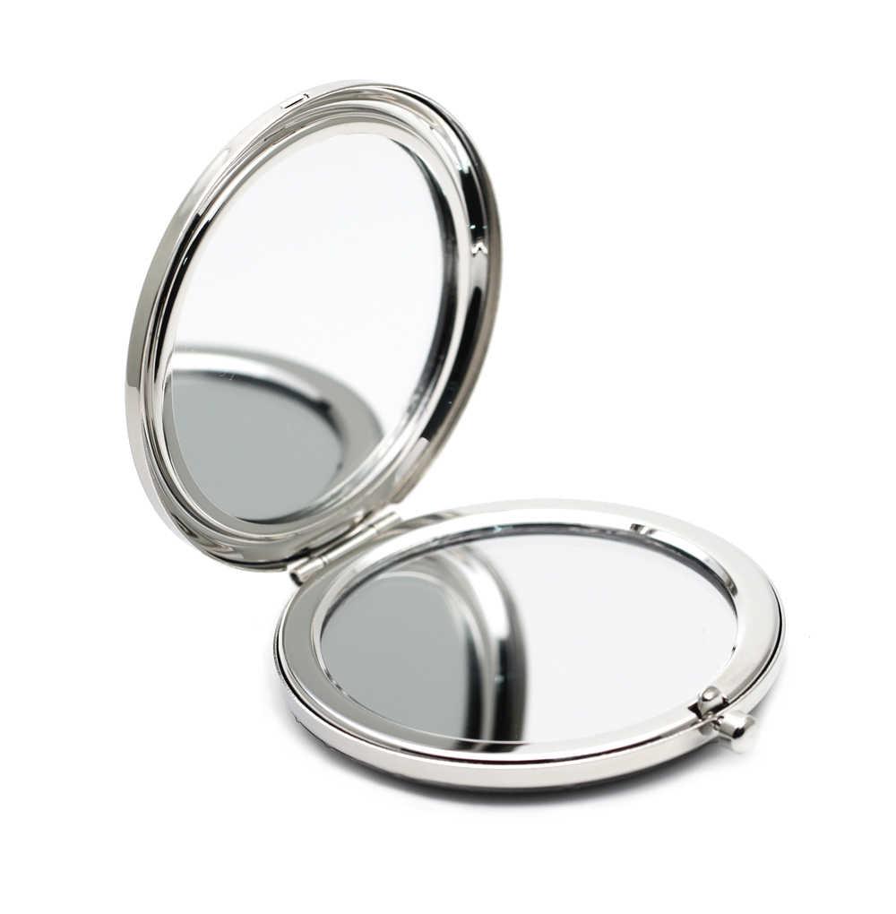 Индивидуальное компактное зеркало свадебный подарок серебро выгравированным на зеркало косметическое компактное зеркало Сувениры #18305-1