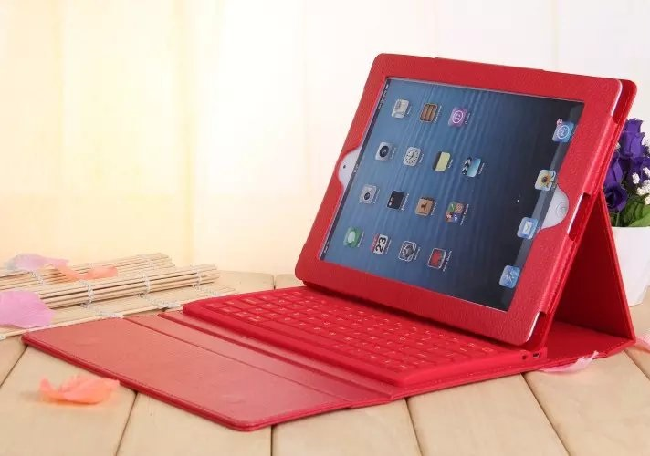 New Stand For iPad air 1 2 Keyboard Bluetooth Bracket PU Case For iPad Air 1 Air 2 Keyboard Case Silicon Wireless Cover