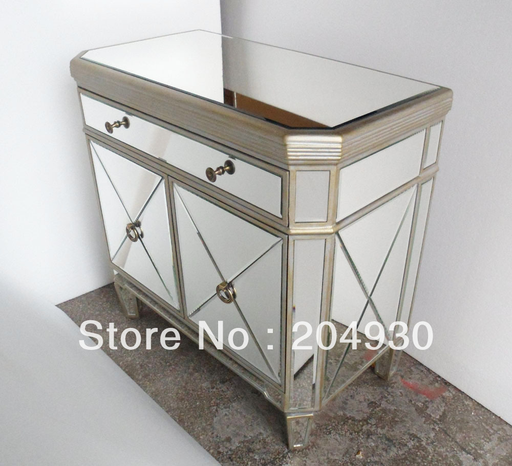 glass jar for cosmetics picture  more detailed picture about mr  - mr glass mirrored nightstand with antique gold and silver finish