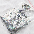 50g /bag Rhombus Paillette Laser Silver Color Glitter Powder for Nail, Tatto art DIY decoration Wholesale LB100-50g